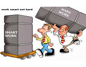 Work smart for increasing efficiency.
