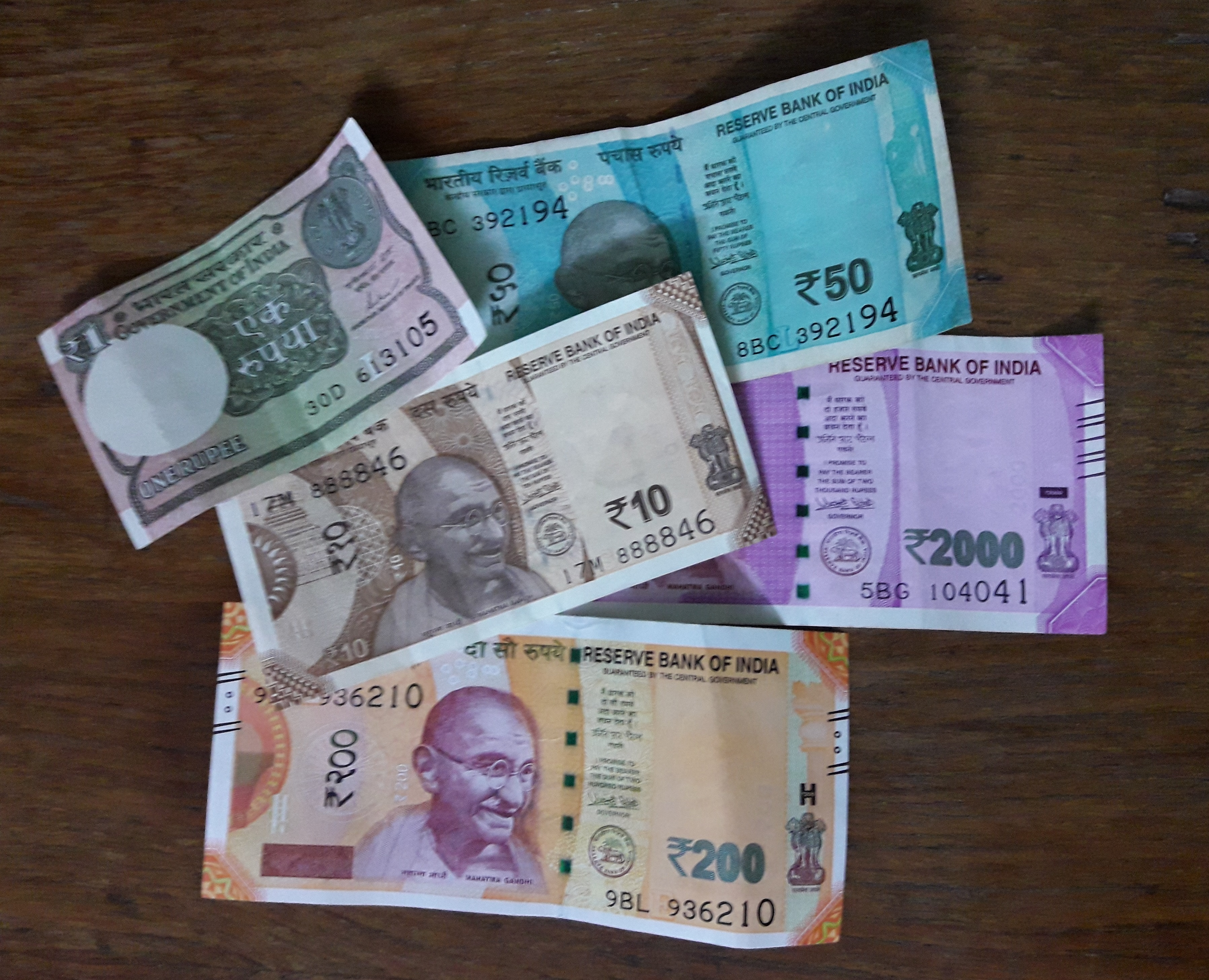 indian currency coins and paper currency
